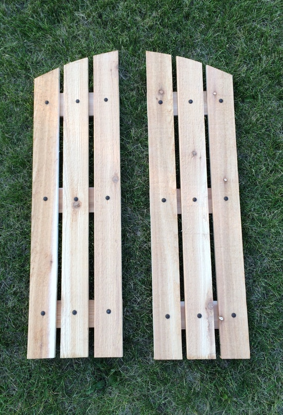 Reclaimed barnwood shutters cedar shutters by for Barnwood shutters