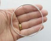 BULK 5 Bracelet bangle 24cm silver plated