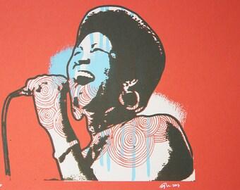 Aretha Franklin Lady Soul Art Print