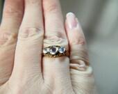 Moonstone Ring - 9K Gold - 1918 - Birmingham - Wedding Jewelry - Antique