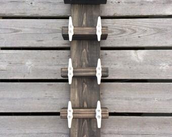 Nautical Boat Cleat Wine Rack Towel Rack