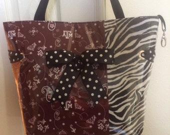 Large Aggie Zebra Tote