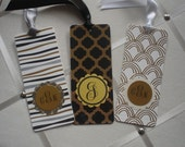 Gold Foil on Black and White  Bookmarks