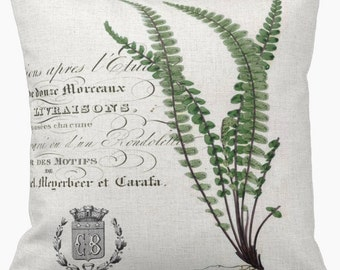 Pillow Cover New French Fern Botanical