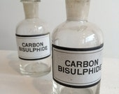 Vintage Apothecary Bottle - Carbon Bisulphate