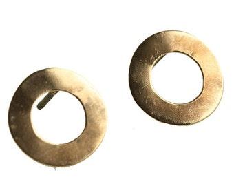 Cirkel  copper ear stud