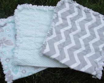 Baby rag burpies burp cloths baby girl or boy