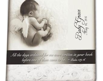 Angel Baby Fused Glass Memorial Tile
