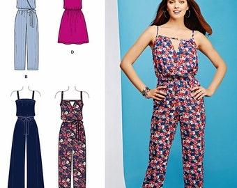 Easy Jumpsuit Pattern, Easy Pullover Sundress, Sz 4 to 26, Simplicity Sewing Pattern 1114