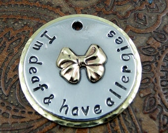 Custom Pet ID Tag-Health Issues-Pet ID Tag-Personalized Dog or Cat Collar Tag-Pet ID Tag