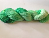Hand Dyed Yarn - Merino / Nylon - Fingering Weight / Sock Weight Color Change - speckled green