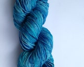 Hand Dyed Yarn - Merino / Nylon - Fingering Weight / Sock Weight Color Change - speckled blues