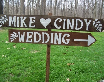 Rustic Wedding Signs LARGE painted wooden signs beach decorations country barn outdoor signage reception baby bridal shower ceremony