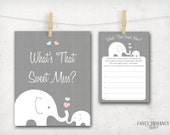 Baby Shower Game / What's That Sweet Mess / Dirty Diaper Elephant Shower Game / Instant Download /  PRINTABLE / #10205