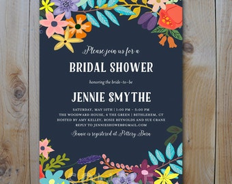Bridal Shower Invitation / Vintage Floral / PRINTABLE INVITATION / 4100