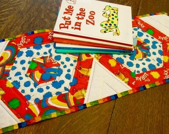 Dr. Seuss Hexagon Quilted Table Runner