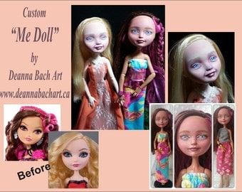 "Custom ""Me Doll"" monster high/ever after high repaint custom doll by fantasy fairy gothic artist Deanna Bach"