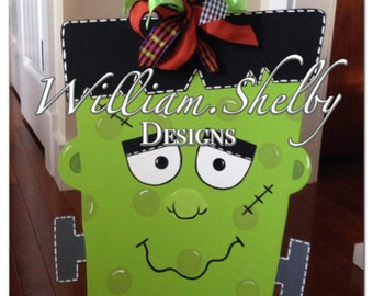 Frankenstein Halloween Door Hanger