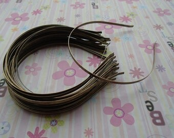 18pcs bronze color headband with bent end thin 4mm