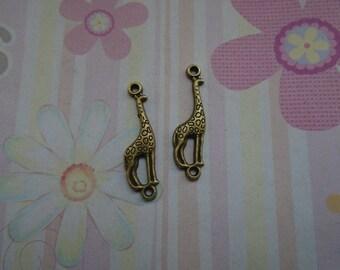 20pcs antique bronze giraffe findings 29x8mm