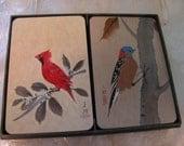 "Like New Hallmark Cards Box Set w/ Asian Atyle Bird Motif in Plastic Box ""Springtime"""
