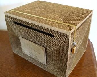 Wedding Card Box Card Box Gatsby Card Box With By ByNaturelle
