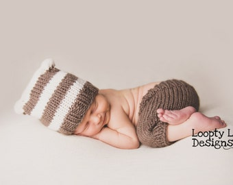Newborn Photo Prop, Knit Hat, Knit Shorts, Baby Boy, Baby Girl, Newborn Knit - SIZE NEWBORN - more color options