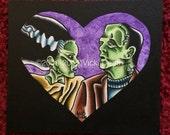 Monster Romance original Horror Art