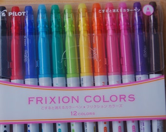 0.5mm Pilot Frixion 12 color set erasable highlighter marker pens