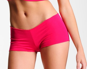 Comfortable Panties - Boyshorts - Raspberry Red Pink -Full Coverage