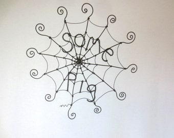 "12"" Some Pig Charlotte's Web Inspired Barbed Wire Spider Web Made to Order"