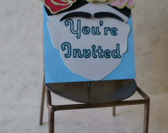 A Set of 25 Frida Inspired Birthday Invitations