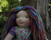 "SPRING SALE on Waldorf Dolls, 16"" Girl, Rag Doll, All-natural Wool and Cotton Cloth Doll"