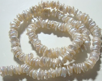 Fresh Water Pearl, Top Quality Very Lustrous Genuine Keshi Freshwater Pearls, Full Strand - 6mm - 35% sale