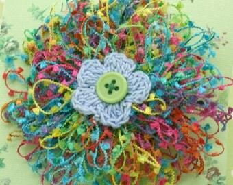 Oversize multi-colors flower clip