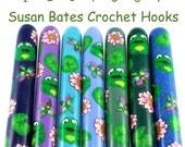 Susan Bates Polymer Clay Covered Crochet Hook, Frog Design
