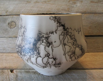 Crowheart Vase,  Horse Hair Pottery , Made in Wyoming