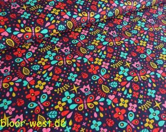 Lillestoff Stretchjersey Floral Party by Deborah van de Leijgraaf Organic Cotton Jersey Fabric
