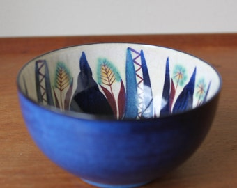 Vintage Royal Copenhagen, Fajance, Denmark, Small Hand Painted Bowl by Marianne Johnson, Signed