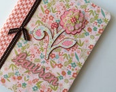 PERSONALIZED Composition Book - Pinky Flower