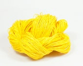 Paper Yarn - Paper Twine: Yellow - 131 yards (120m) - Knit, crochet, textile arts, DIY supply