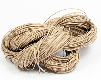 Paper Yarn - Paper Twine: Natural-Kraft - 131 yards (120m) - Knit, crochet, textile arts, DIY supply