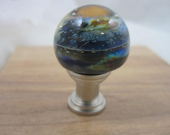Hand Made Flamework Glass Knob- Billions