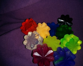 50 Flower Soap Wedding Party/Bridal Shower Favors--Your pick color and scent