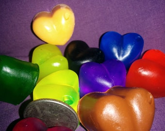 50 Heart Soap Wedding Party/Bridal Shower Favors--Your pick color and scent