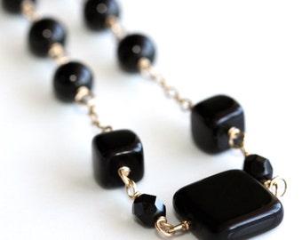 Classic Necklace * Elegant Necklace * Black Necklace * Black Jewelry * Statement Necklace * Jet Black Necklace...............*Untamed Woman*