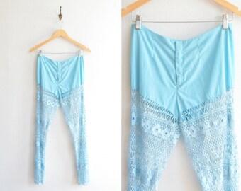 SALE / Vintage 1970s statement lace pants