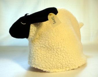 Sheep tea cozy, tea cosy: Sidney the sheep cozy