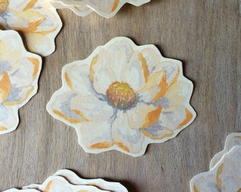 Ivory Blossom Prints - Tags, Place cards, wishing tree, wedding decoration, baby shower, escort cards