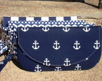 Set of Bridesmaids Clutches, Navy Custom Made Clutches, Nautical Bridesmaids Gifts,  Navy Bridesmaids Bags, Custom Made Clutches